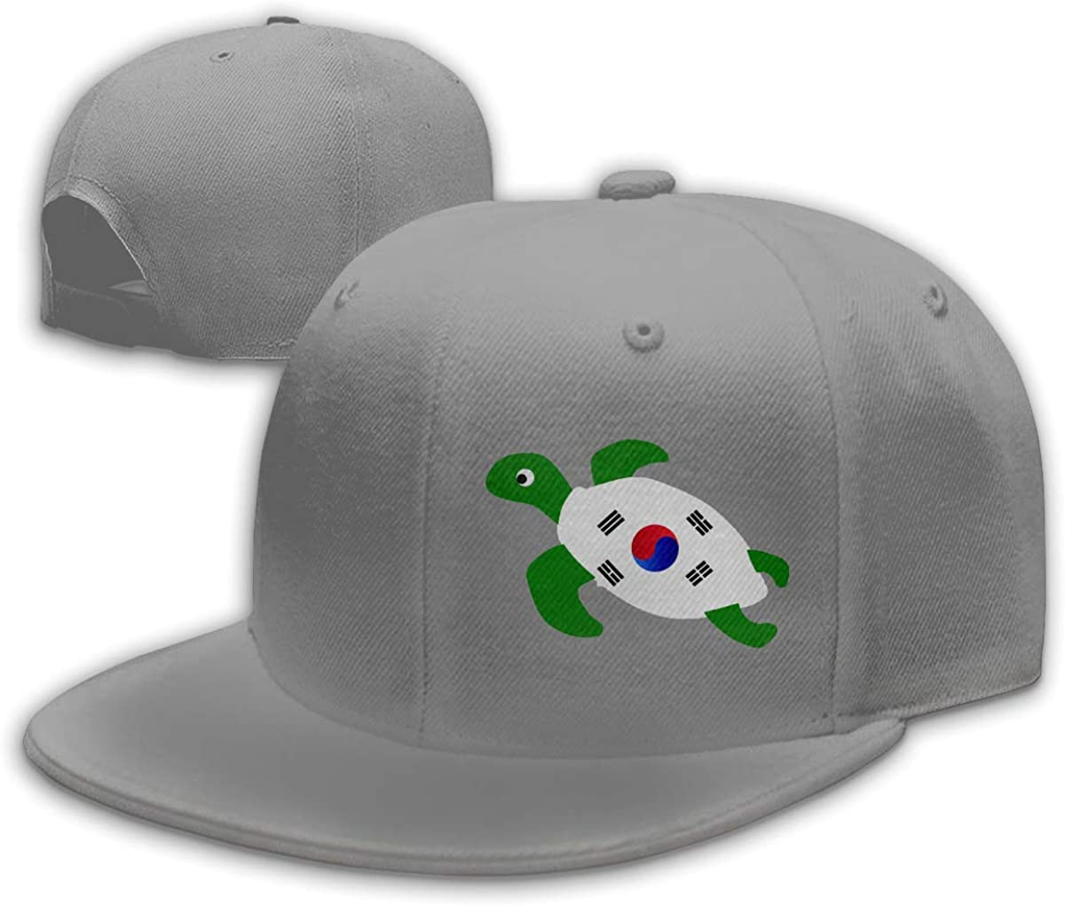 Sea Turtle Flag of South Korea Adjustable Flat Bill Snapback Baseball Hip-hop Cap Hat