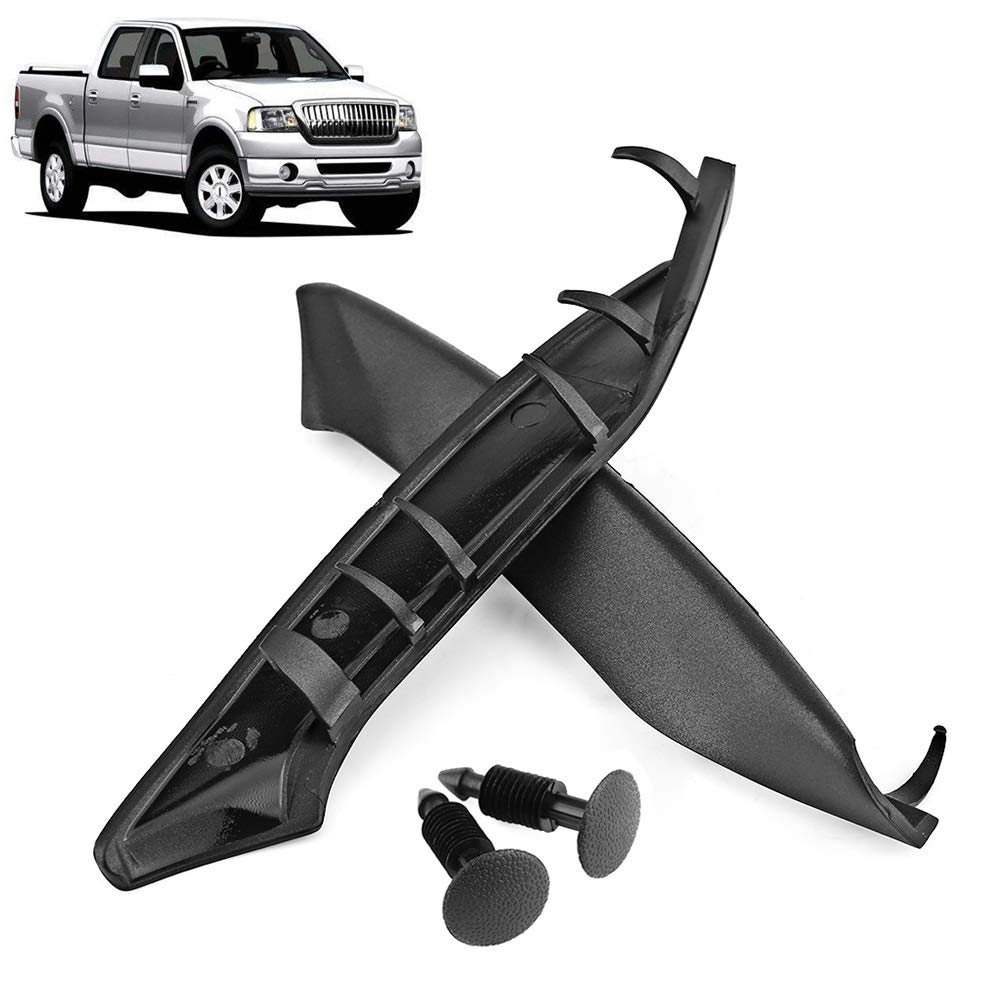 BiuZi Wiper Cowl Plastic End Windshield Wiper Cowl Cover Set with Retaining Pins for Ford F150 2004-2008 for Lincoln Mark LT 2006-2008