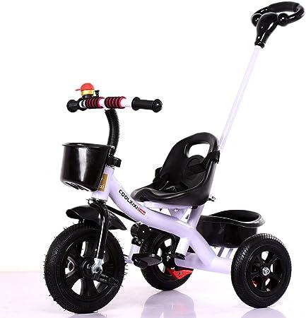 Triciclo para niños Bicicleta para bebés 1-5 años Bicicleta para niños Cochecito de bebé Mango desmontable, Blanco, 71 * 80cm: Amazon.es: Hogar