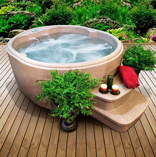 Day Spas-Premium® Hot Tub 4-Person 12-Jet Rock Solid Luna Plug and Play...