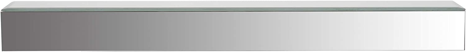 Gallery Solutions Mirrored Mount Floating Shelf Ledge Decor or Wall Art, Silver