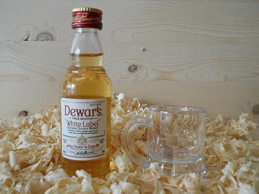 Botellin miniatura Whisky Dewar´s Whitel Label con vasito chupito ...