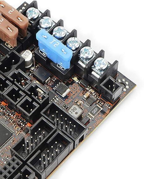 XuBa placa base para Reprap Prusa i3 MK3 con 4 trinamic TMC2130 Controladores de pasos SPI Control 4 Mosfet conmutado salidas: Amazon.es: Oficina y papelería