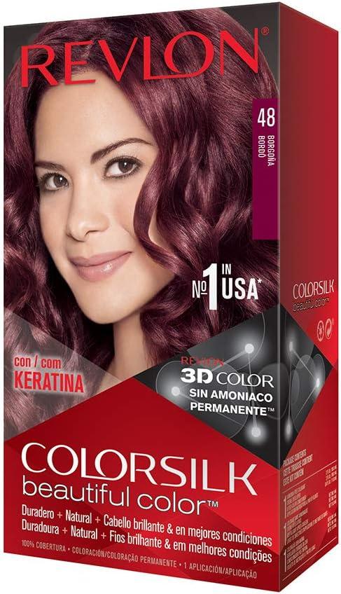 Revlon Colorsilk - Tinte, color 48-borgoña, 200 gr