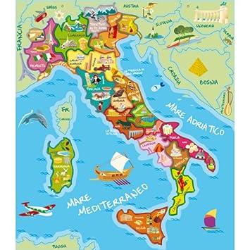 Carte Italie Jeux.Eurekakids Carte Magnetique De L Italie Amazon Fr Jeux Et