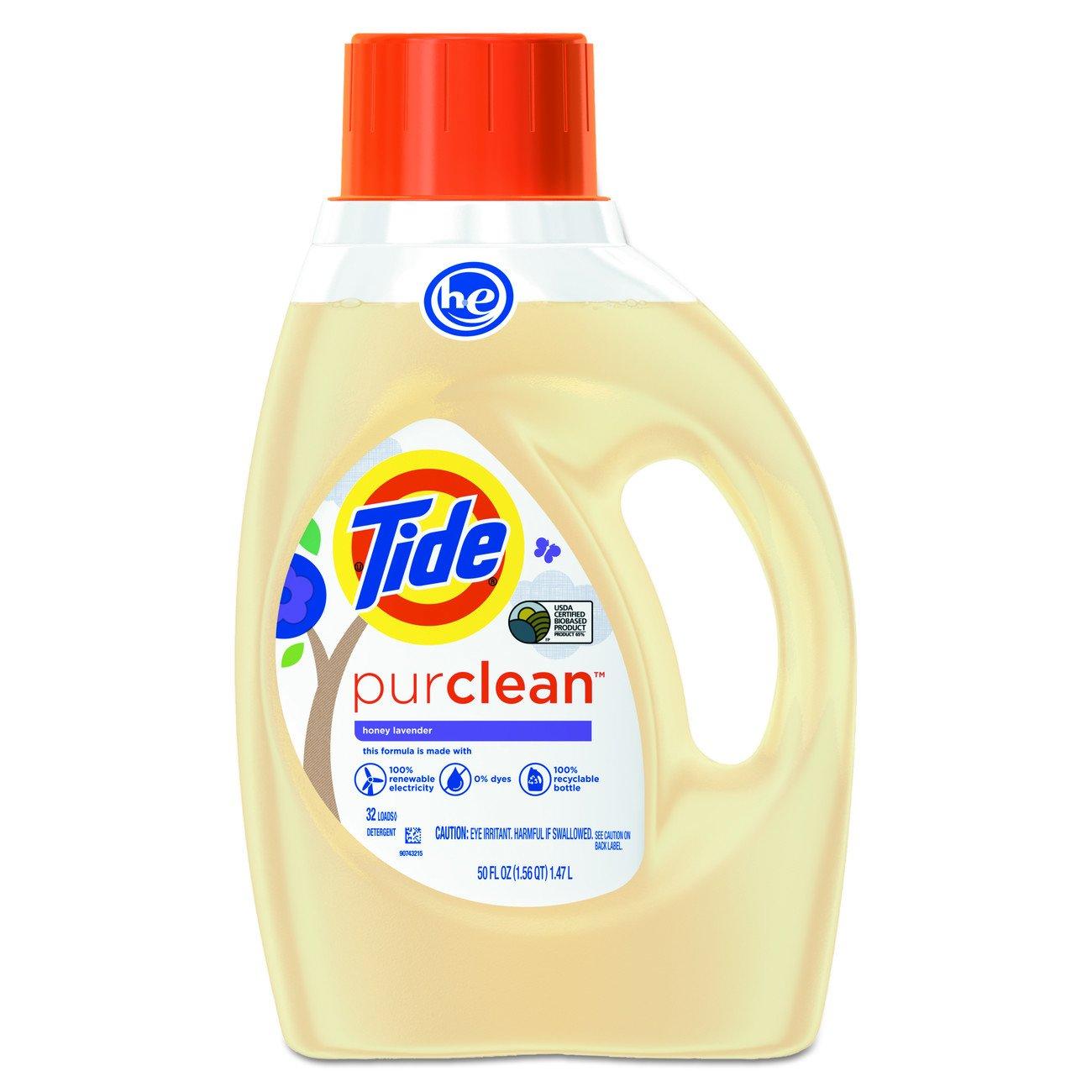 Tide 96810 PurClean Liquid Laundry Detergent, Honey Lavender, 50 oz. Bottle (Pack of 6)