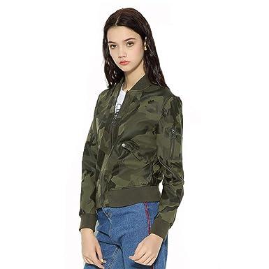 16eb48b5645f2 Amazon.com: NXZqpz Autumn Women Camouflage Soft Leather Jacket O ...