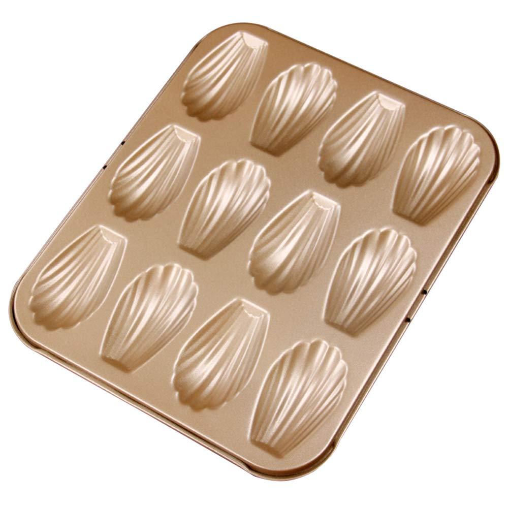 MyLifeUNIT Nonstick Madeleine Baking Pan, 12-Cavity Shell Shaped Pan