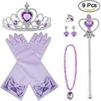 Vicloon 5Pcs Princesa Vestir Accesorios Regalo Conjunto