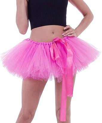 8c186dd738 FEOYA - Traje de Tul Faldas Mujer Cortas para Danza de Ballet Falda de Tutú  Hinchada con Múltiples Capas Enaguas Carnaval Gasa Suave para Fiesta -  Rosa  ...