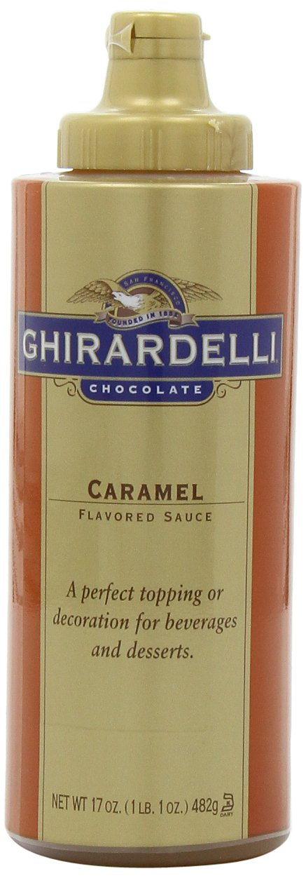 Ghirardelli Chocolate Flavored Sauce, Caramel, 17-Ounce Bottles (Pack of 6) by Ghirardelli