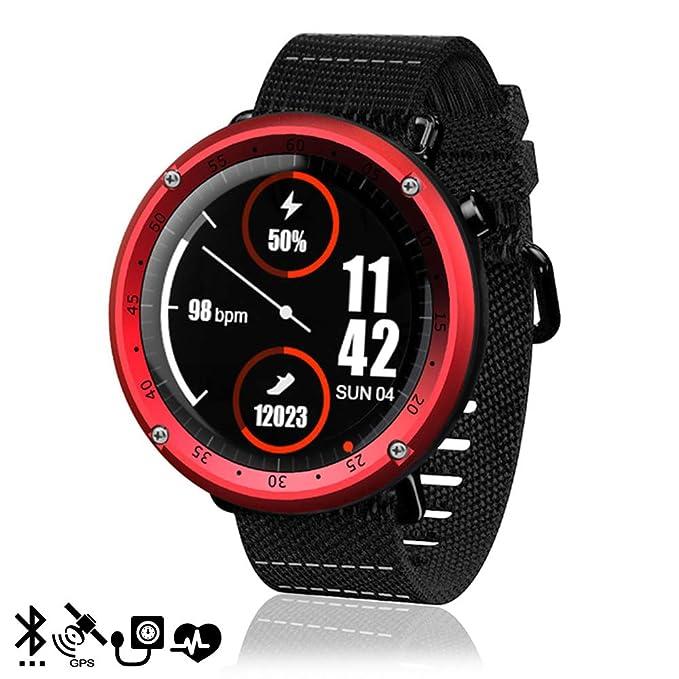 DAM. DMZ046RED. Smartwatch L19 con GPS, Presión Sanguínea Y Modo ...