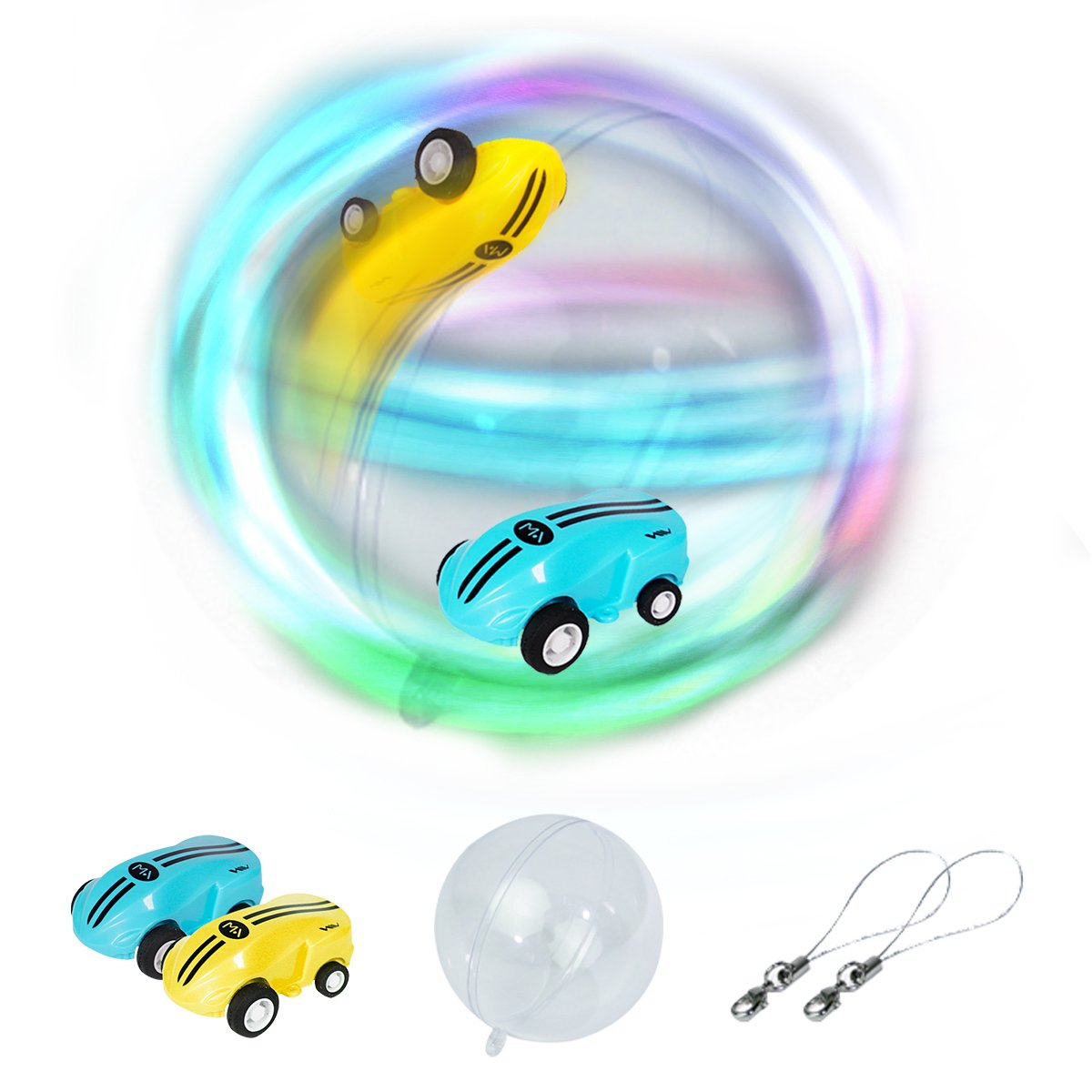 Remoking (2 cars)High Speed Mini Racing Stunt Cars Toys Game 25km/h 360 Spinning Fixed-Point Rotating Scrolling Recharger battery Cars with LED Light Bonus ball Good for Kids and Adults