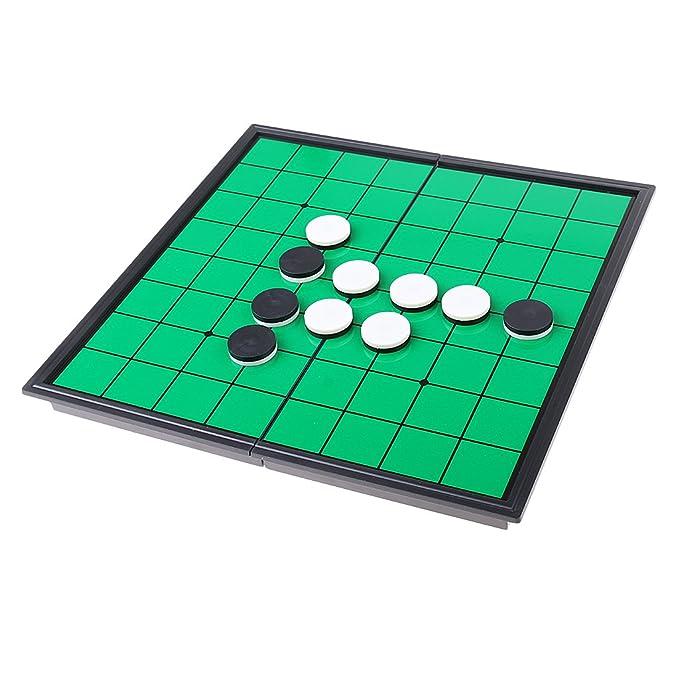 PQZATX Magnetic Pieghevole Portatile Reversi Othello Board Chess Gioco Educativo per La Famiglia Genitore-Figlio
