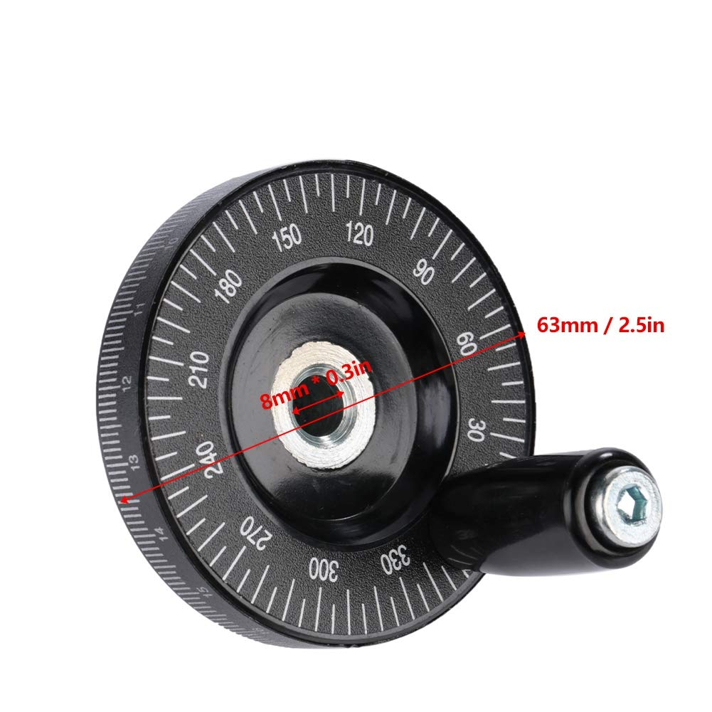 Machinery Accessaries 1pcs 63mm Bakelite Handwheel with Scale Milling Hand Wheel for Lathes