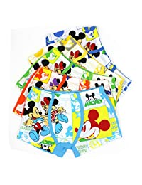 2-8 Years Old Boys Character Mickey Mouse Boxer Briefs Cotton Underwear 5 Multipack