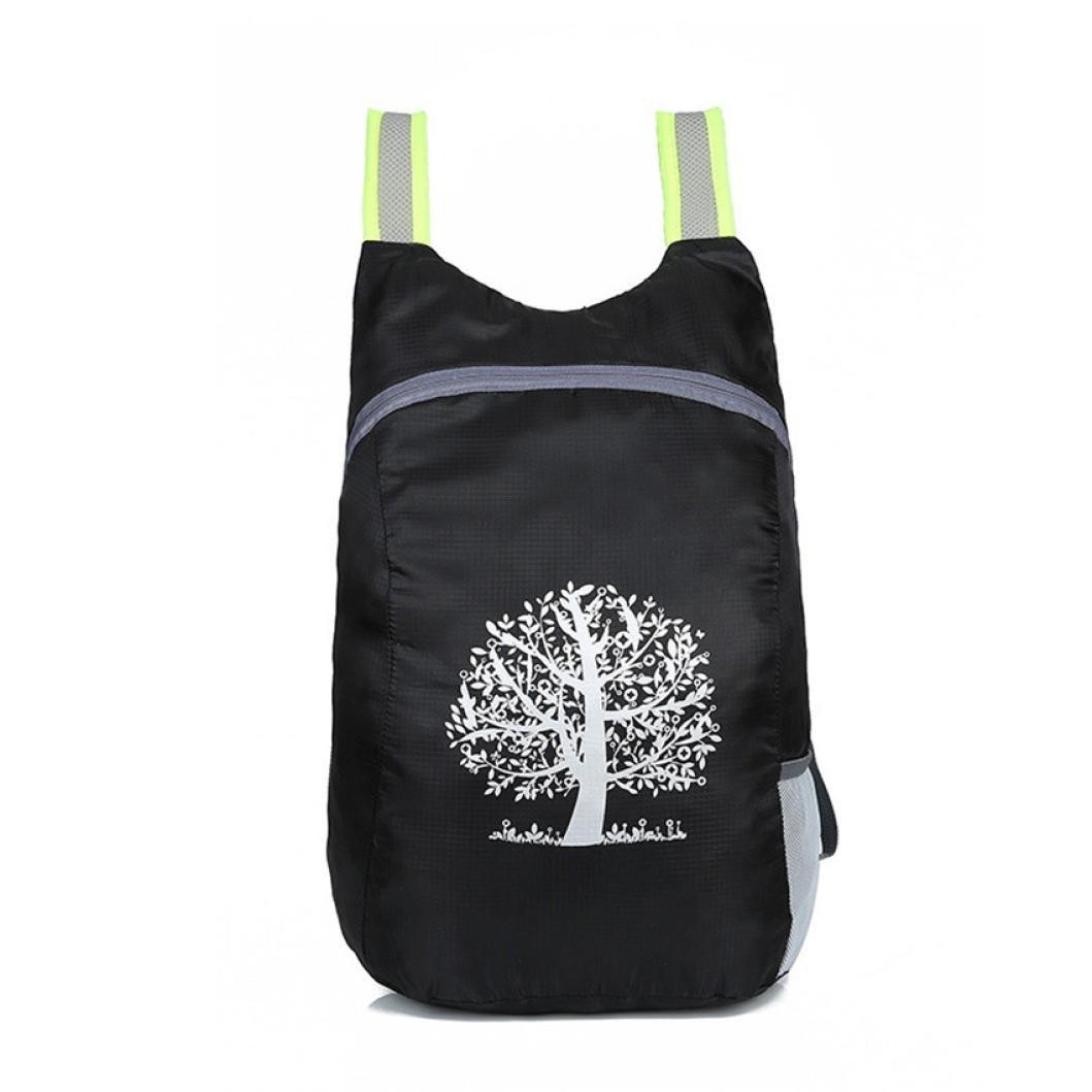 Backpack,YJYdada Durable Folding Packable Lightweight Travel Hiking Backpack Daypack (black)