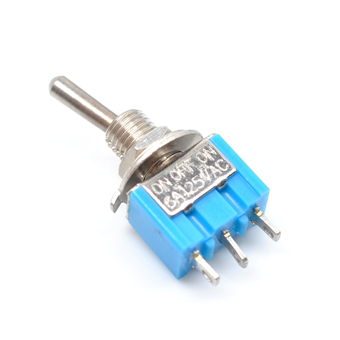 Red Willwin 10 pcs Mts-103 SPDT ON-OFF-ON 3 Pin Latching Miniature Toggle Switch AC125V 6A