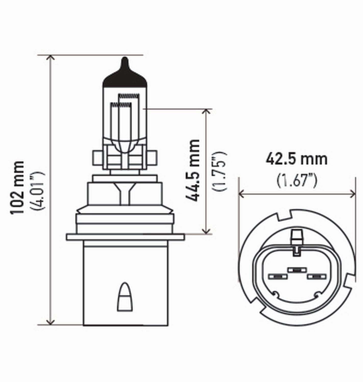 Amazon.com: HELLA H71071392 Optilux XB Series 9004 Xenon White Halogen Bulbs, 12V, 65/45W, 2 Pack: Automotive