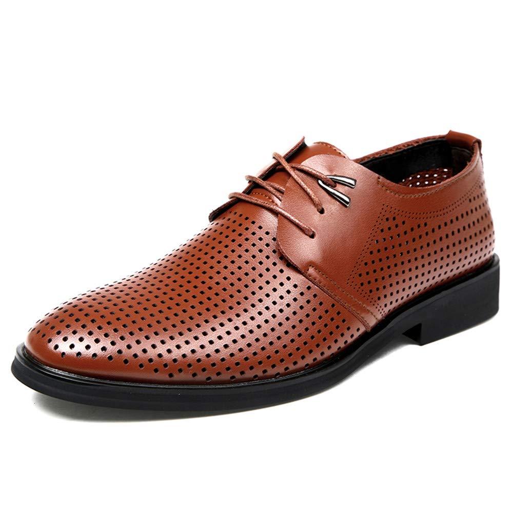 Oxford Shoes メンズ ビジネス オックスフォード カジュアル クラシック ファッション 快適 ホローアウト 通気性 フォーマルシューズ ビジネスシューズ メンズ 9 M US ブラウン HYF B07S9CTKR4 ブラウン 9 M US