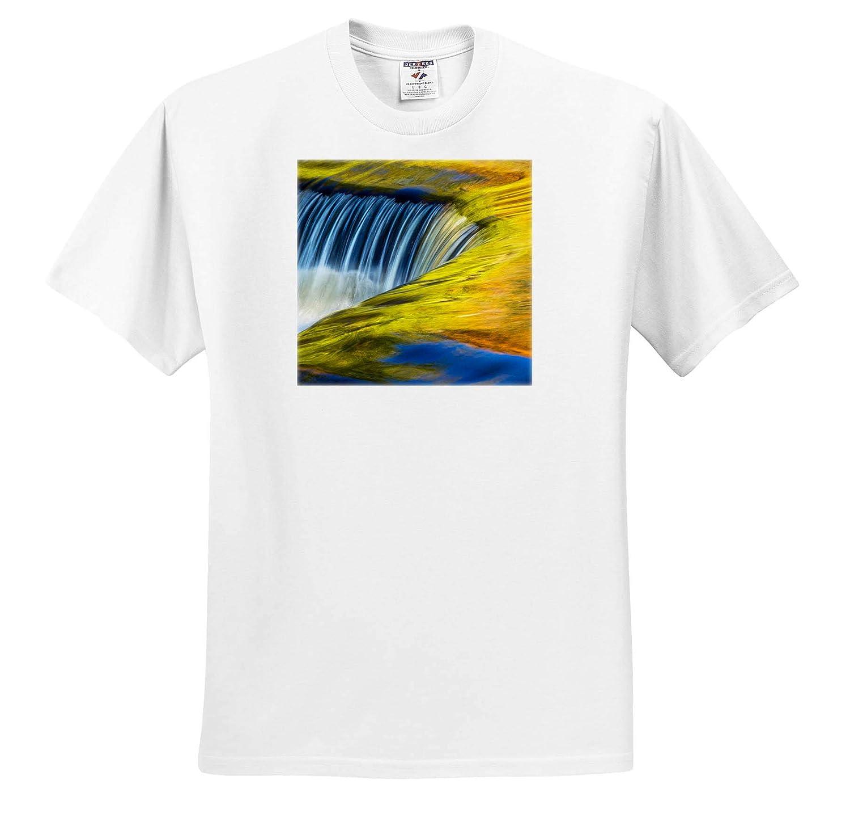 Michigan ts/_314863 3dRose Danita Delimont Abstract USA Adult T-Shirt XL Autumn Waterfall