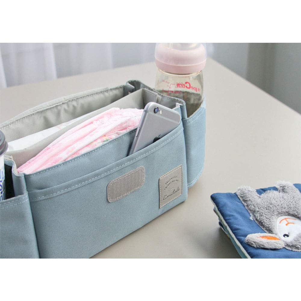 DHUYUN Stroller Organizer Universal Stroller Organizer Bag with with 2 Cup Holders for All Strollers Secret Compartment for Your Wallets and Keys 4 Colors Parents Stroller Organizer Bag by DHUYUN (Image #4)