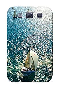 Christmas Gift - PC For Case Samsung Galaxy S4 I9500 Cover trong Protect Case - Vehicles Watercrafts Boats Sailboats Sailing Sports Oceans Seas Water Sunlight Reflections Design