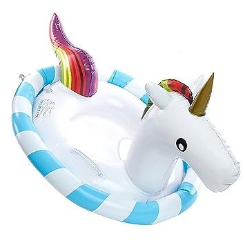 Hot Chili 90cm Doble Airbags Flotador Unicornio Hinchable Barca con Asiento para Niño de 1-6 Años: Amazon.es: Deportes y aire libre