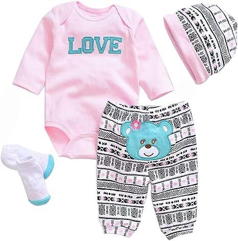 Simulation Baby Doll Kleidung für 20-22 Zoll Puppe 50-55cm 0-3 Monate  ◆