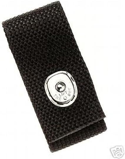 Boston Leather 5519-5 Black Ballistic Woven Nylon Handcuff Strap Black Snap