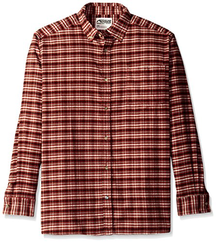 Pass Plaid Shirt (Mountain Khakis Men's Downtown Flannel Shirt, Malbec, XX-Large)