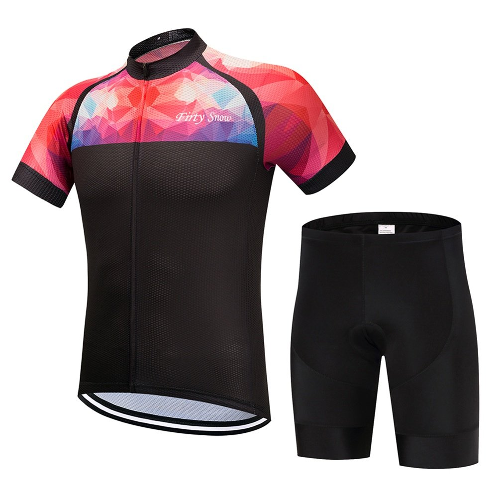 Radtrikots - Breathable Short Sleeve Bike Trikot mit 3D Gel Pad Bib Shorts für Pro Bicycle Team Clothing
