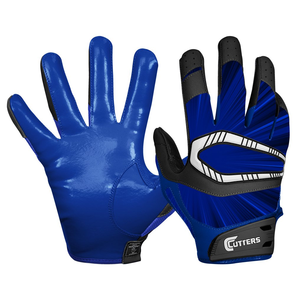Cutters Gloves REV Pro Receiver Glove (Pair), Royal, Small ADULT