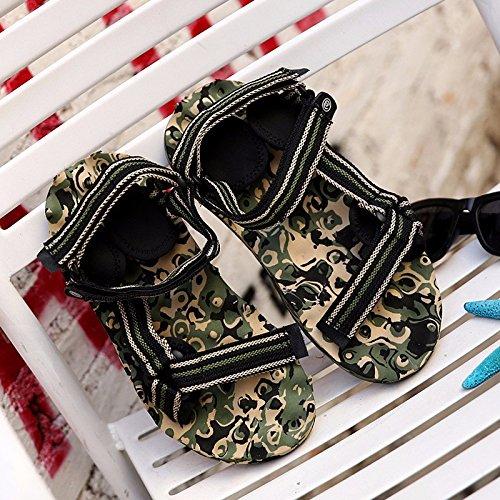 Estate la nuova Roma flip flop spiaggia coppia Sandali outdoor tempo libero Trendflip flop primavera uomini sandali, nero, US = 9, UK = 8,5, EU = 42 2/3, CN = 44