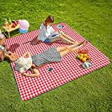 Three Donkeys Machine Washable Extra Large Picnic & Beach Blanket Handy Mat Plus Thick Dual Layers Sandproof Waterproof Paddi