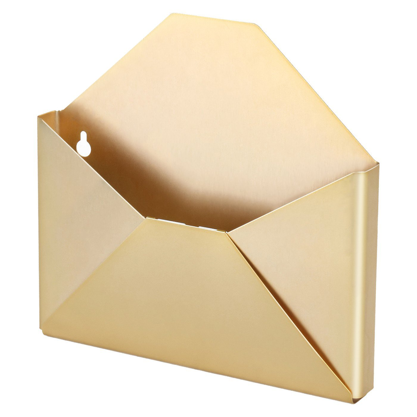 Amazon.com : DESIGNA Brass Wall Envelope Organizer, Pocket Letter ...