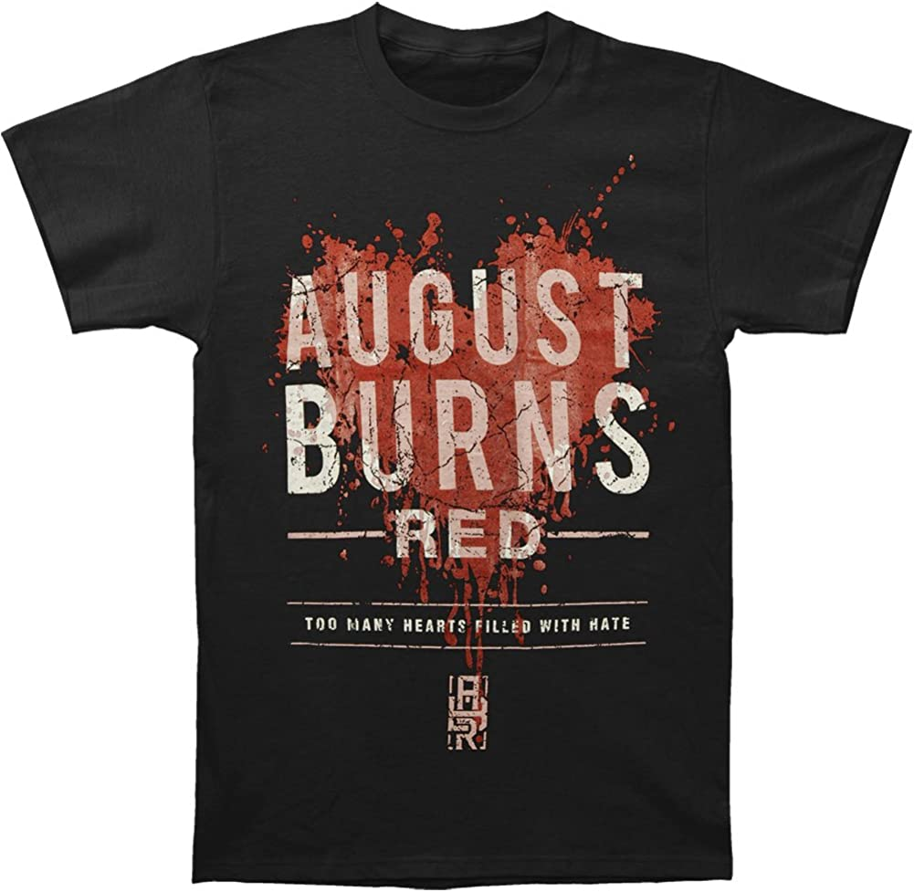 August Burns Mens Short Sleeve Shirt Cotton Novelty Tee Black