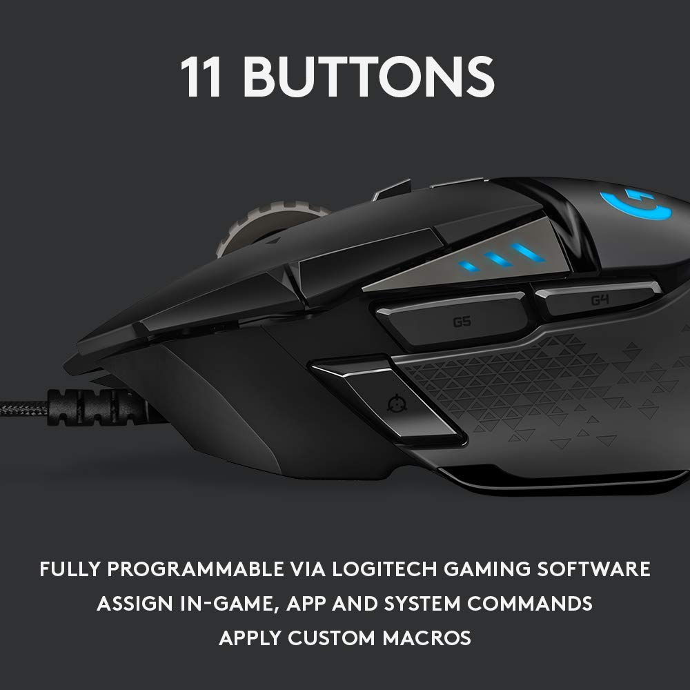 Logitech G502 HERO High Performance Gaming Mouse (Renewed)