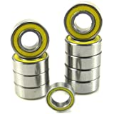 Tamiya Grasshopper Precision Ball Bearing Kit (10) YE Rubber Sealed