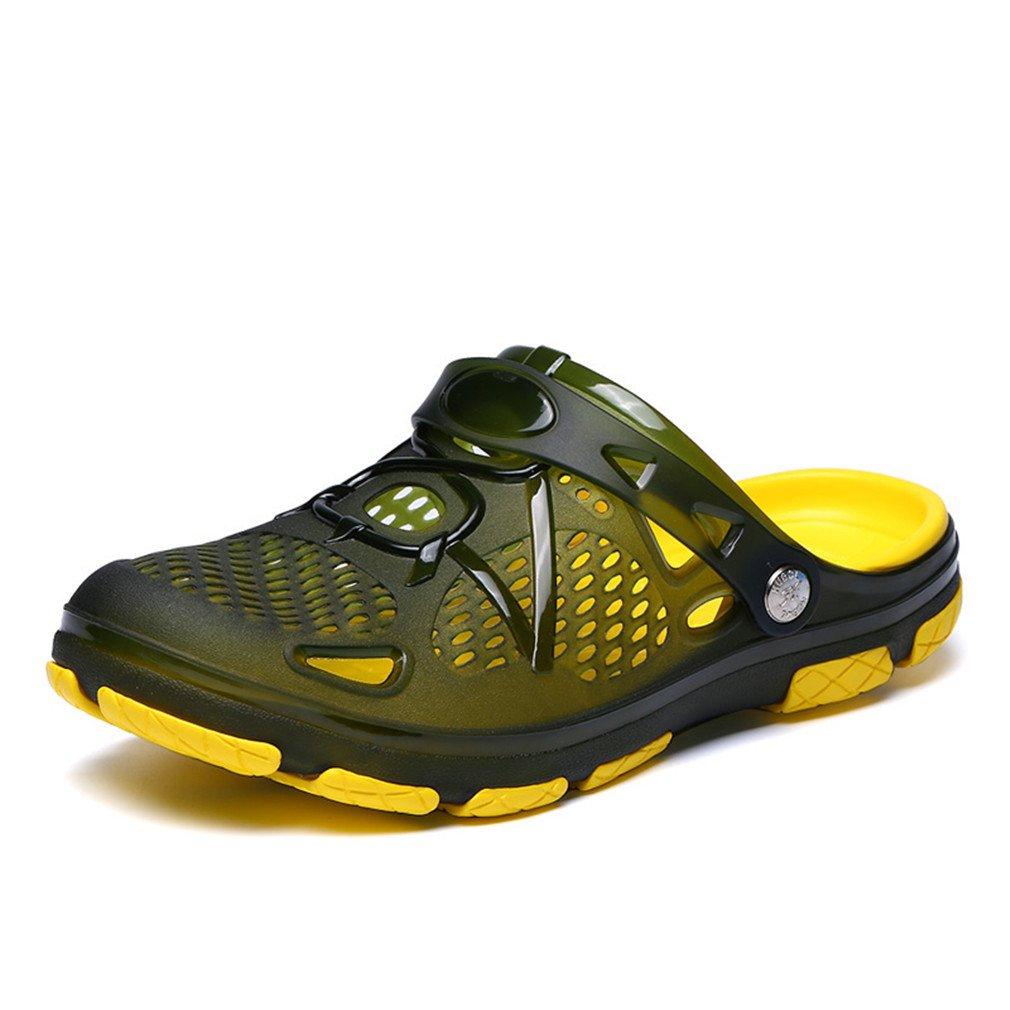 Summer Men's Casual Fashion Non Slip Sandals Mens Lightly Slipper Army Green 9.5