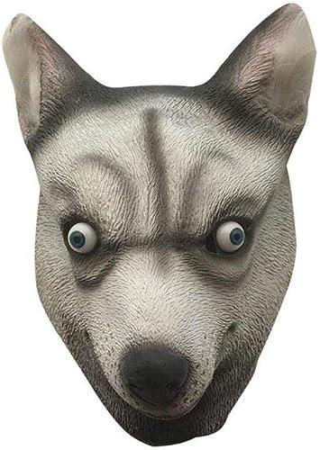 Máscara de Cabeza de Perro de Látex Del Partido Del Animal Del ...