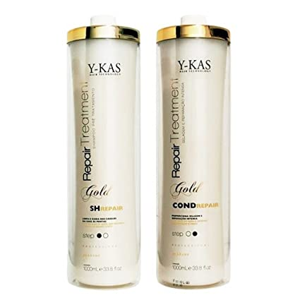 y-kas oro Liss treatmet Escova progressiva de Ouro queratina brasileña pelo alisado de Peine