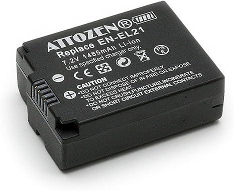 Gp iiquu Li-ion batería de cámara para Nikon en-el21 enel 21 1 v2 1v2 1 j2 Jahr 21 etc