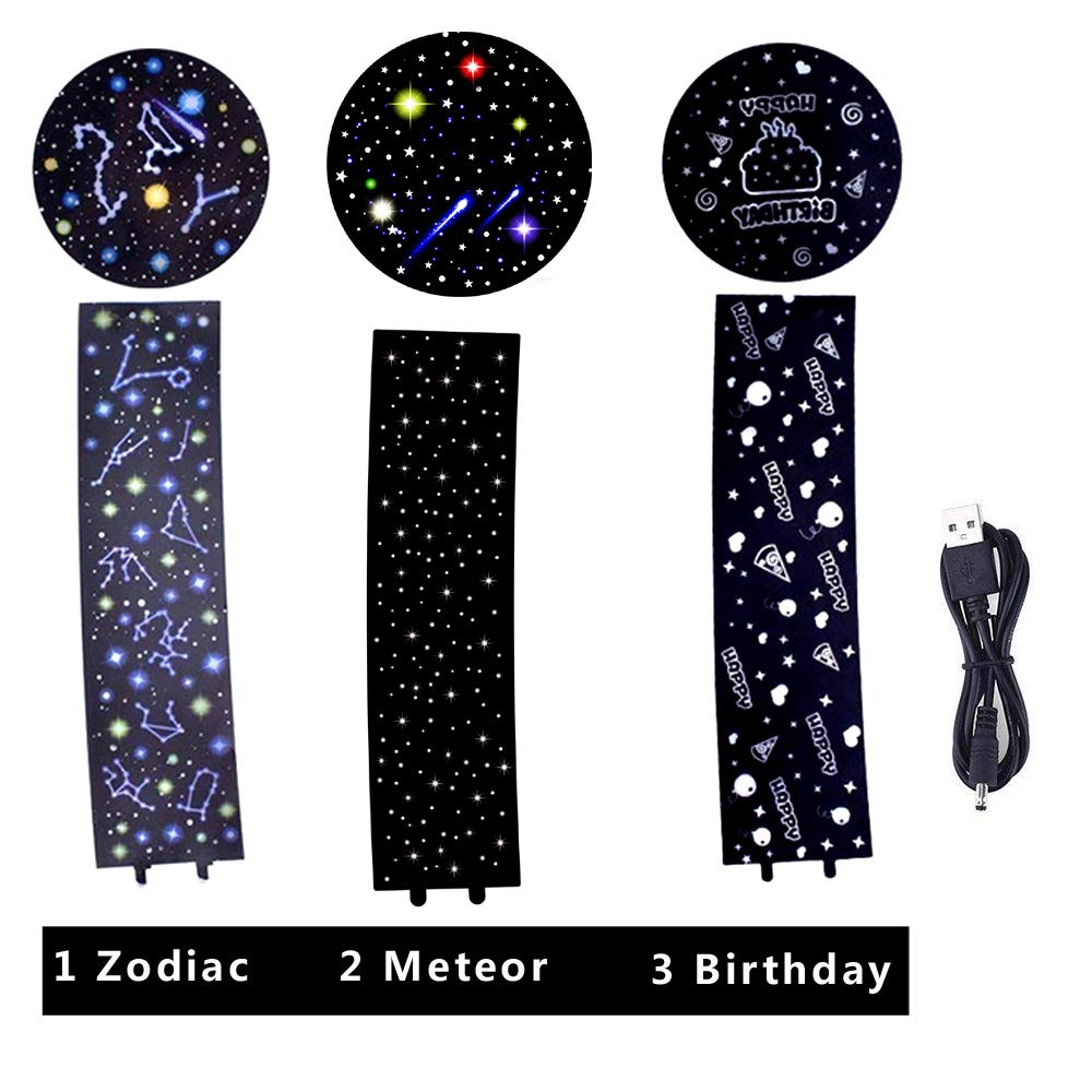 Best Gift Slippers for Baby 360/°Rotating Projector Night Lighting Lamps with Starry Moon Sky for Indoor Bedrooms KISTRA Unicorn Star Night Lights for Kids with LED Timer Boys Girls