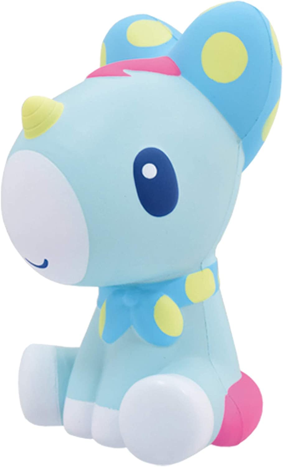 ibloom Unicorn Cute Animal Slow Rising Big Squishy Toy (Aqua, Light Blue, Apple Scented, 6 Inch) [Kawaii Squishies for Party Favors, Stress Balls, Birthday Gift Boxes for Girls, Boys, Kids, Adults]
