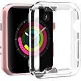Smiling Clear Case for Apple Watch 42mm with Buit in TPU Screen Protector All-Around Protective Case High Defination…