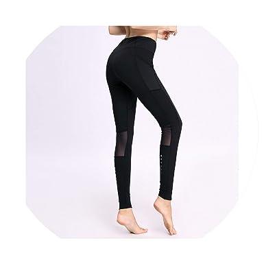 Amazon.com: Leggings elásticos de gimnasio para mujer, para ...