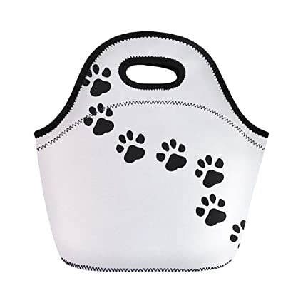 53266caeb924 Amazon.com: Semtomn Lunch Tote Bag Dog Paw Puppy Pawprint Trail Cat ...