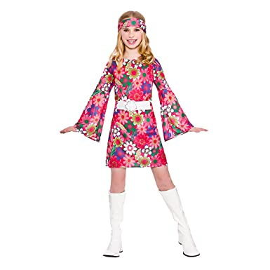 (XL) (11-13) Girls Retro Gogo Girl Costume for 60s 70s  sc 1 st  Amazon UK & Childrens Girls 60s Retro Gogo Girl Costume for 60s Rock N Roll ...