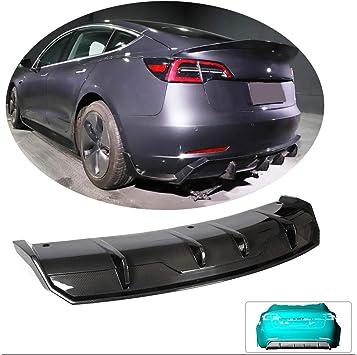 For 2016-2019 Tesla Model 3 Sedan Gloss Black Front Bumper Lip Spoiler